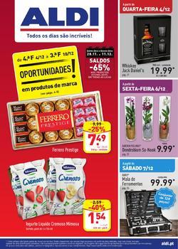 Folheto Aldi Oportunidades de 4 a 10 Dezembro pág. 1