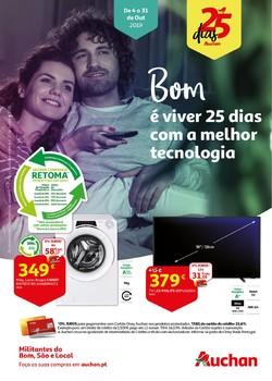Folheto Auchan 25 Dias Tecnologia de 4 a 31 Outubro