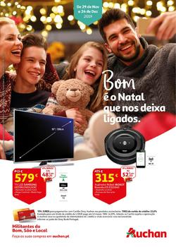 Folheto Auchan O Natal que nos deixa ligados de 29 Novembro a 24 Dezembro