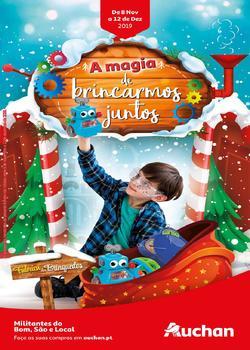 Folheto Auchan Brinquedos Natal de 8 Novembro a 12 Dezembro