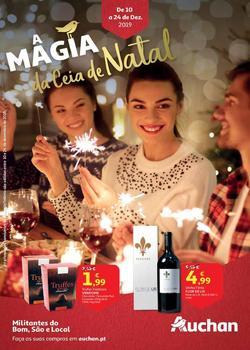 Folheto Auchan A magia da Ceia de Natal de 10 a 24 Dezembro