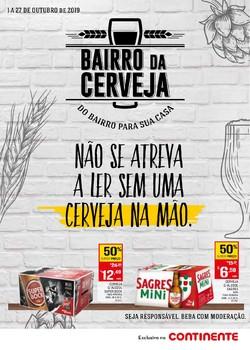 Folheto Continente Bairro da Cerveja de 1 a 27 Outubro