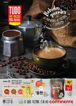 Folheto Continente Bebidas quentes de 15 Outubro a 4 Novembro