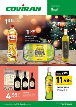 Folheto Coviran Especial Natal de 3 a 15 Dezembro