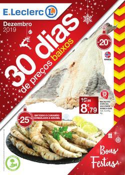 Folheto E.leclerc Boas festas! de 1 a 31 Dezembro