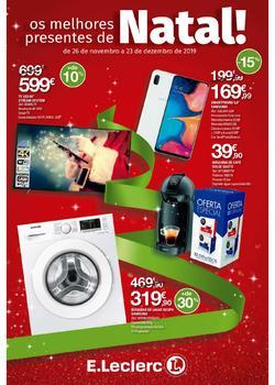Folheto E.leclerc Presentes de Natal de 26 Novembro a 23 Dezembro