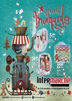 Folheto Intermarché Brinquedos - Lojas Contact de 21 Novembro a 24 Dezembro