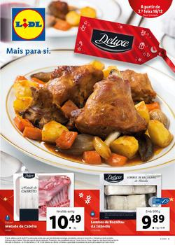 Folheto Lidl Alimentar de 16 a 22 Dezembro