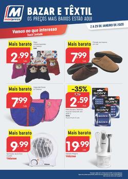 Bazar e Têxtil de 2 a 29 Janeiro