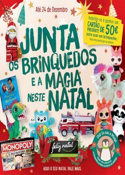Folheto Pingo Doce Brinquedos - Lojas Hiper de 21 Novembro a 24 Dezembro