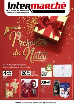 Folheto Intermarché Presentes de Natal - Lojas Super de 21 Novembro a 24 Dezembro