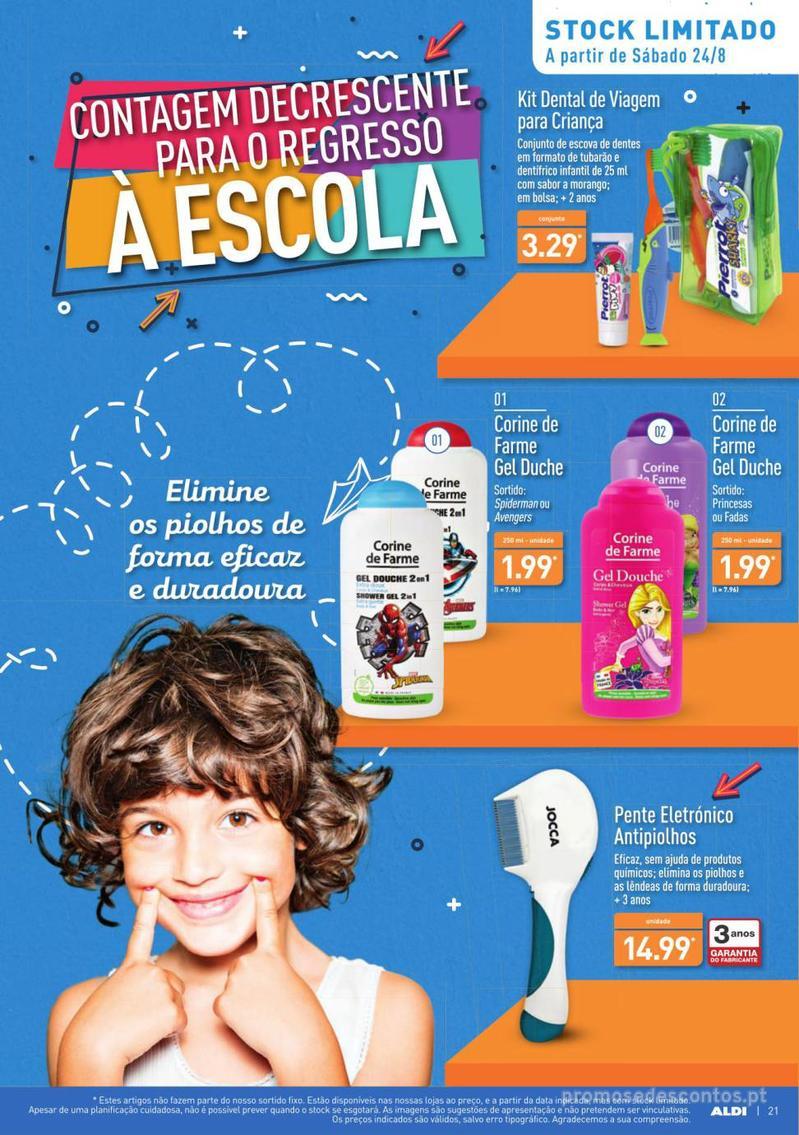 Folheto Aldi Contagem decrescente para o regresso à escola - 21 de Agosto a 27 de Agosto - página 21
