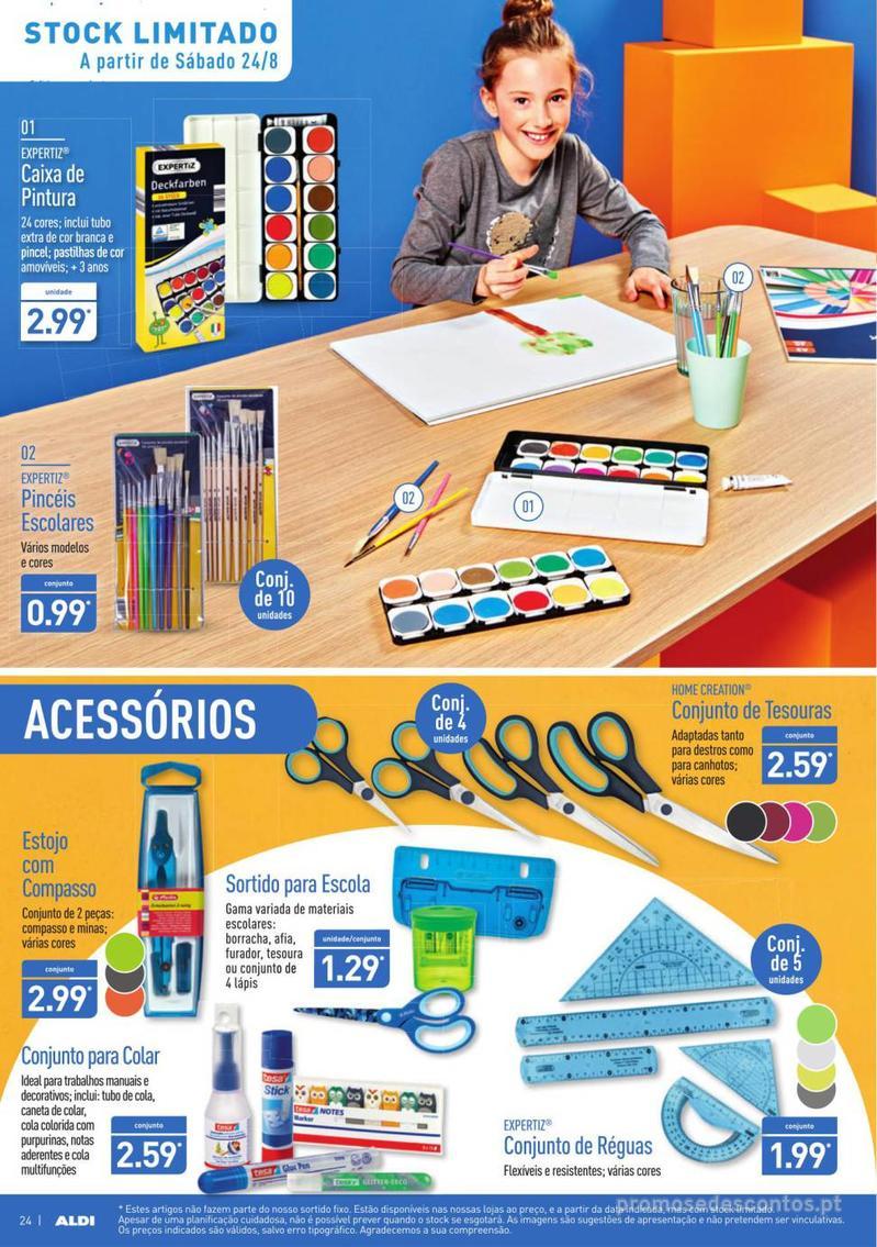 Folheto Aldi Contagem decrescente para o regresso à escola - 21 de Agosto a 27 de Agosto - página 24