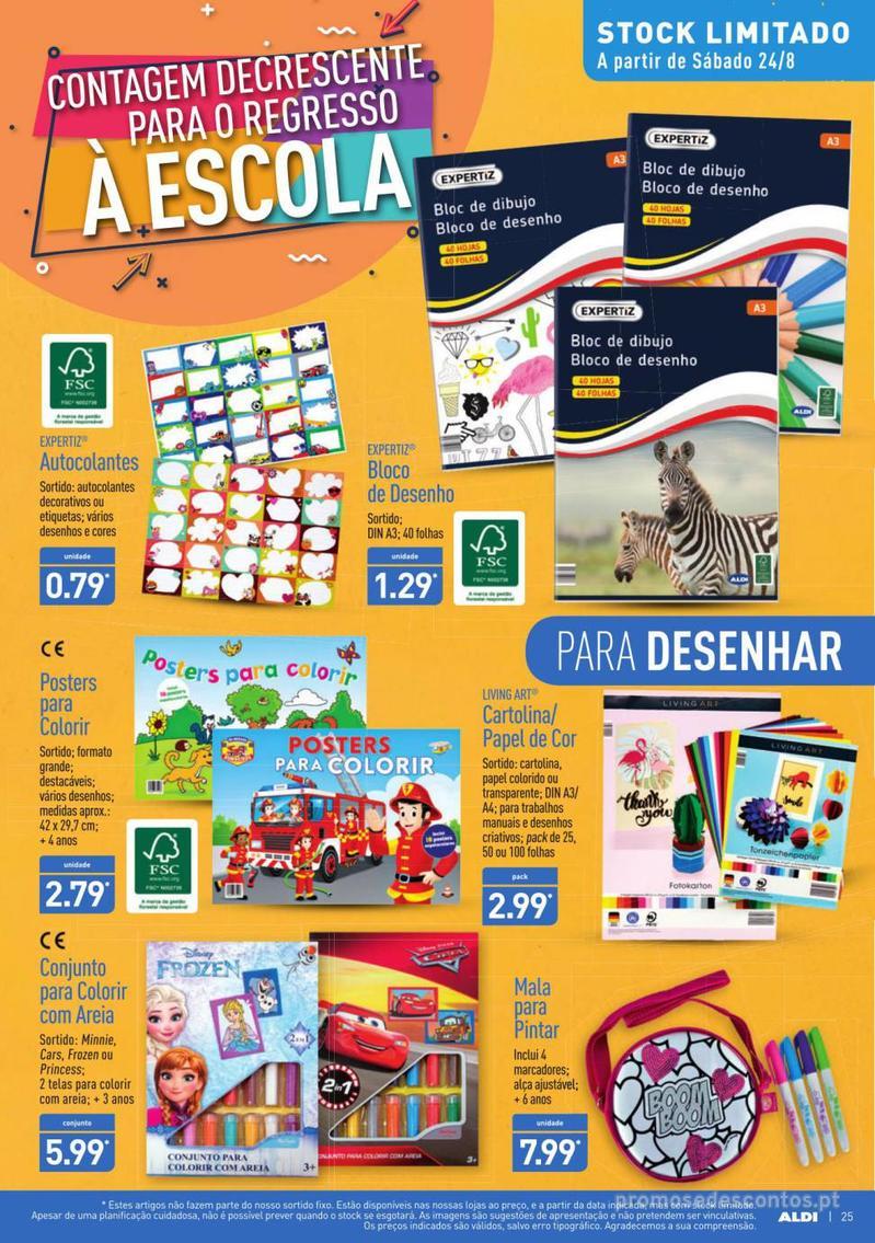 Folheto Aldi Contagem decrescente para o regresso à escola - 21 de Agosto a 27 de Agosto - página 25