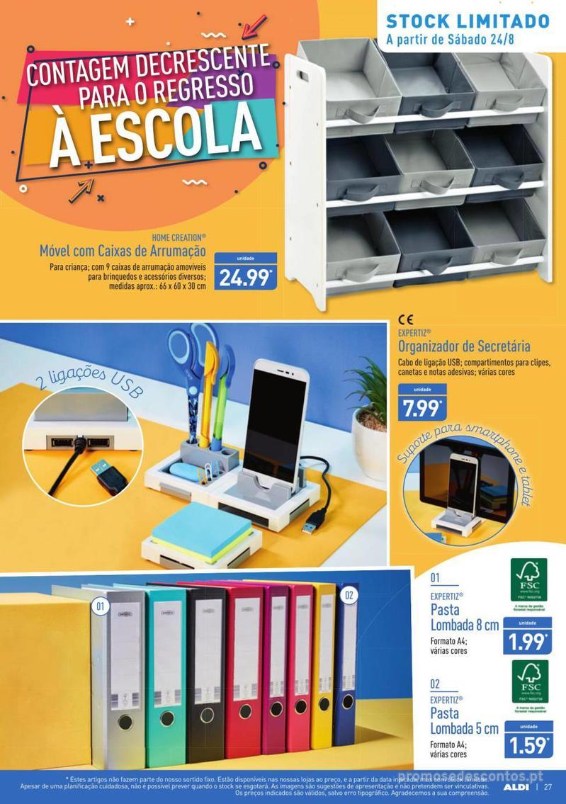Folheto Aldi Contagem decrescente para o regresso à escola - 21 de Agosto a 27 de Agosto - página 27