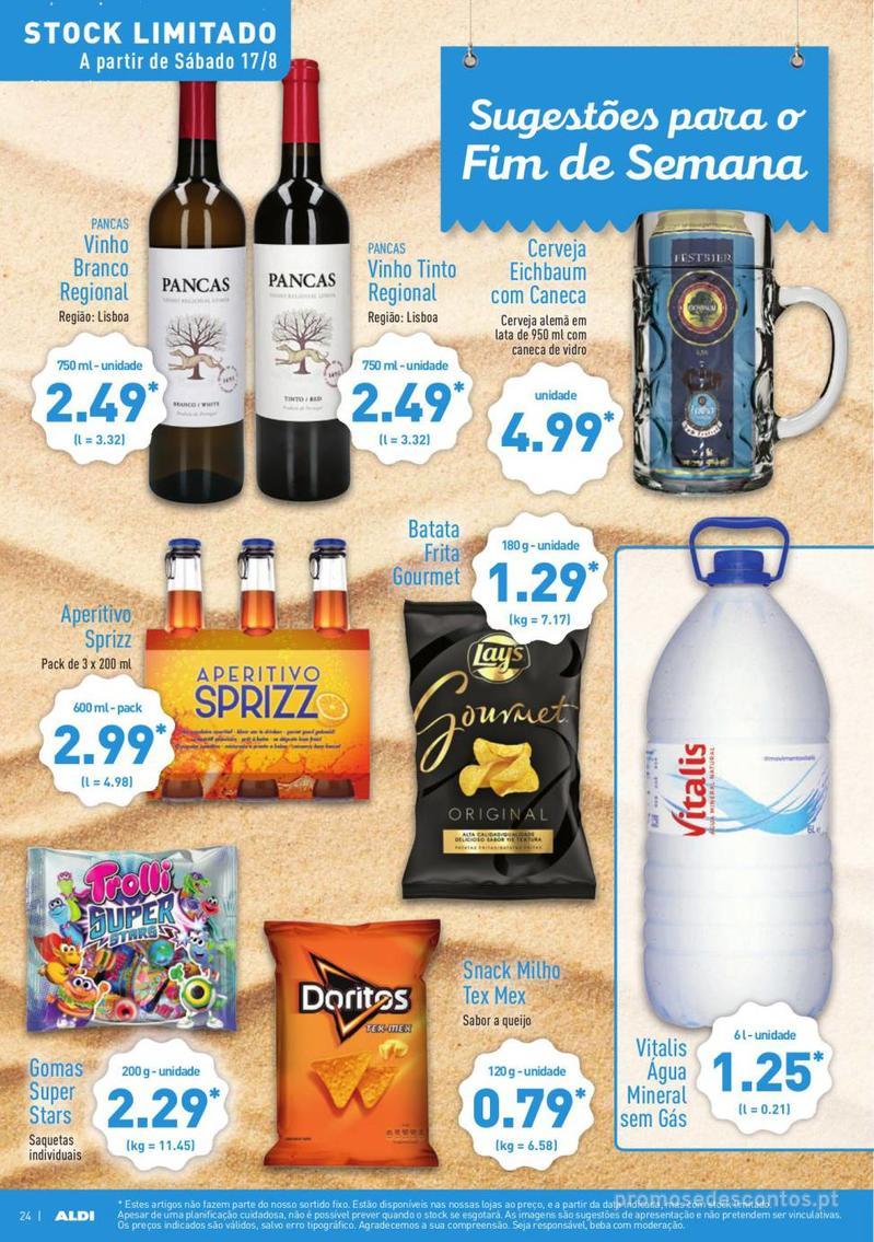 Folheto Aldi Summer party - 14 de Agosto a 20 de Agosto - página 24