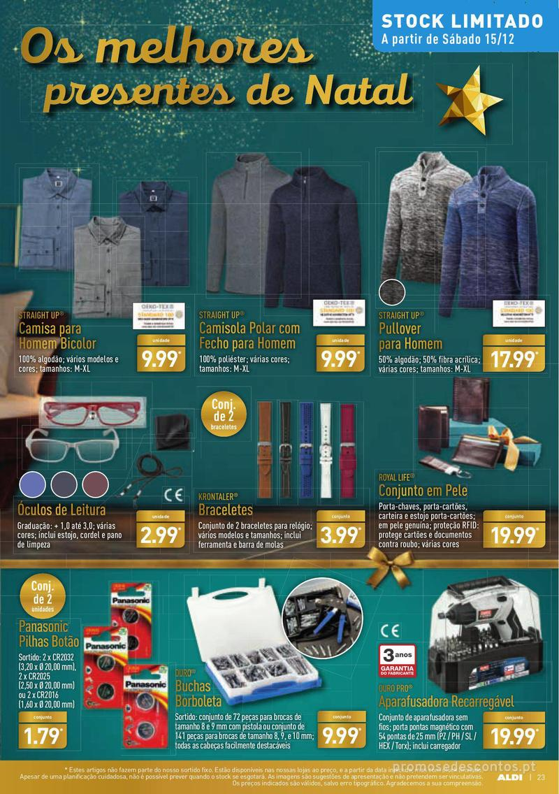 Folheto Aldi Presentes para todos - 12 de Dezembro a 18 de Dezembro - página 23
