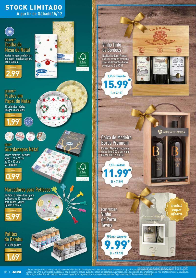Folheto Aldi Presentes para todos - 12 de Dezembro a 18 de Dezembro - página 30