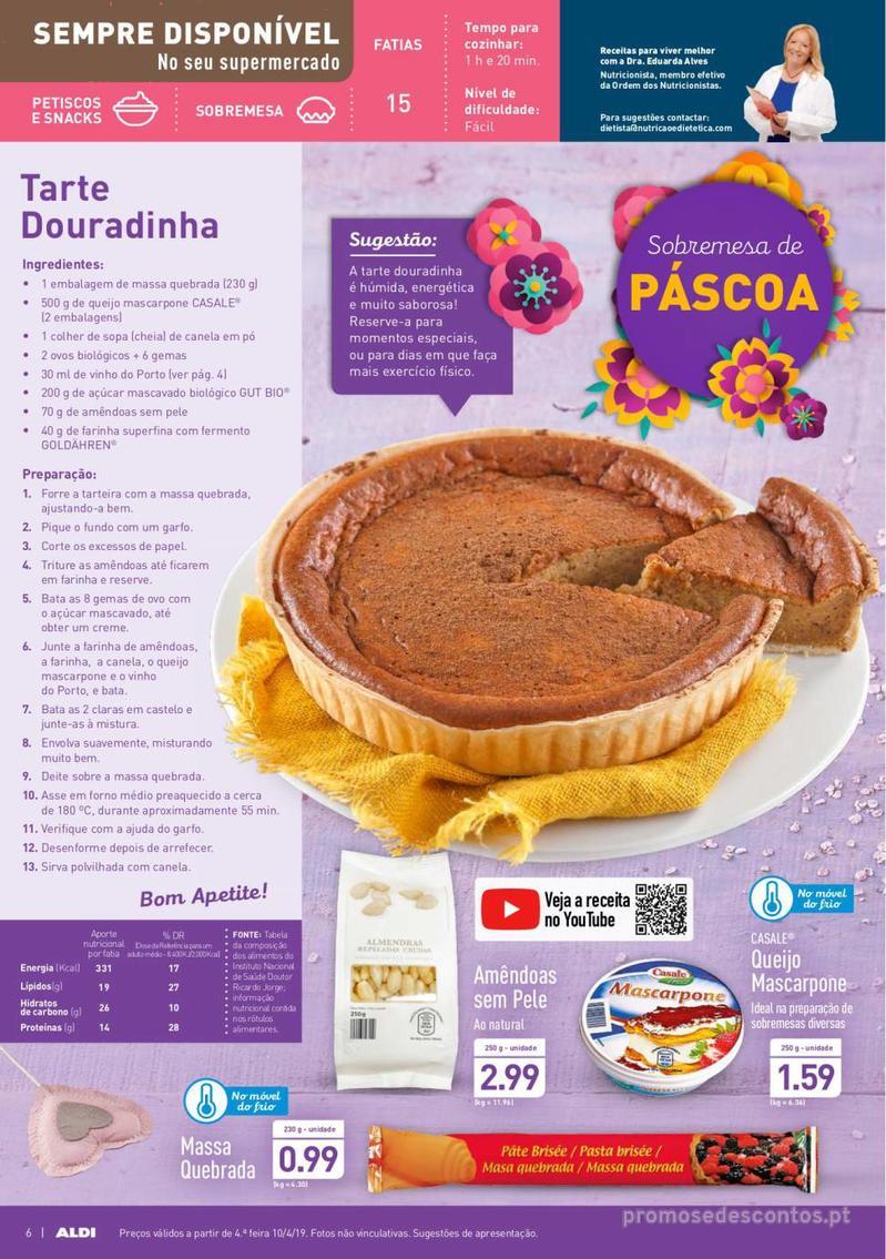 Folheto Aldi Feliz Páscoa - 17 de Abril a 23 de Abril - página 6