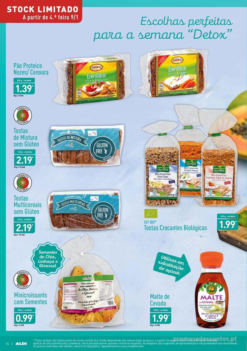 Folheto Aldi Semana Detox - 9 de Janeiro a 15 de Janeiro - página 14
