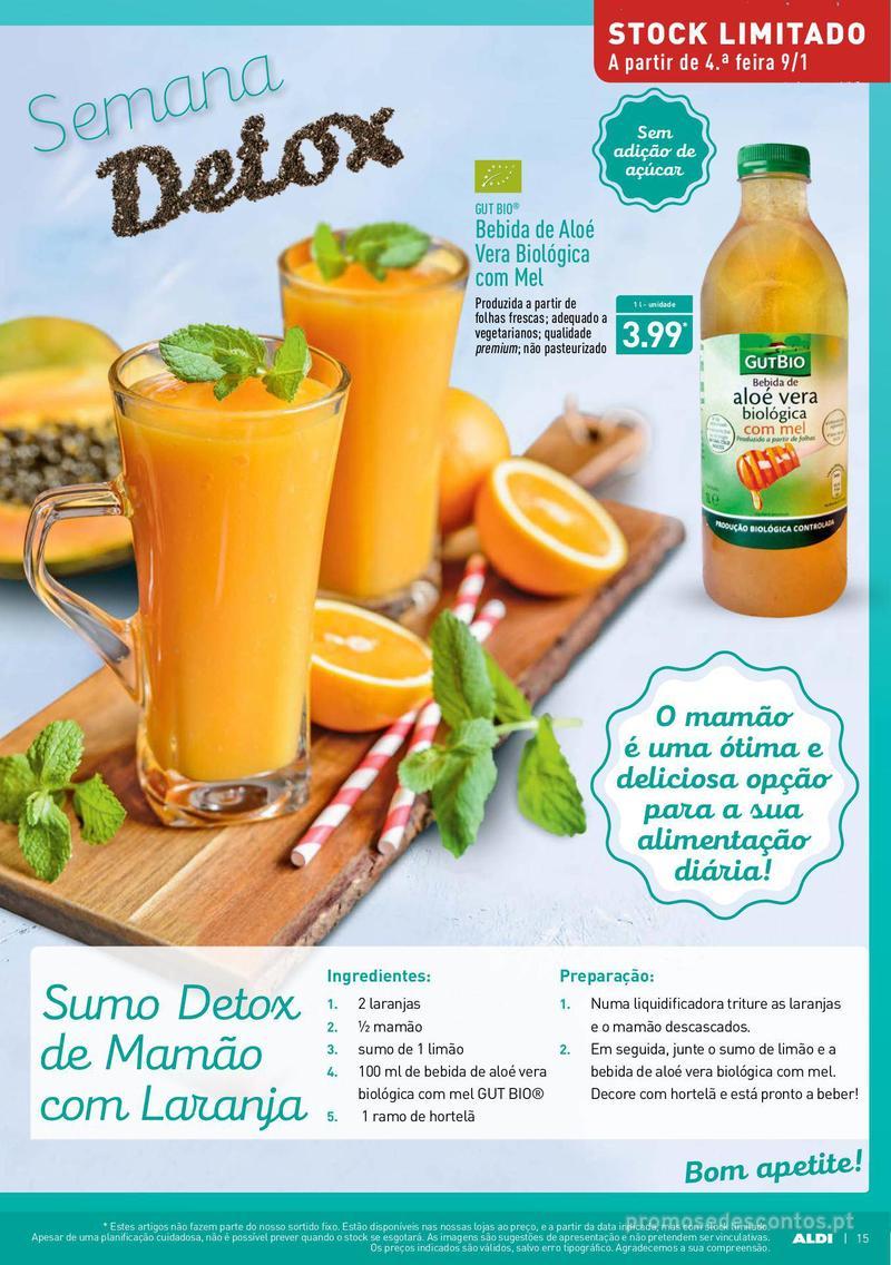 Folheto Aldi Semana Detox - 9 de Janeiro a 15 de Janeiro - página 15