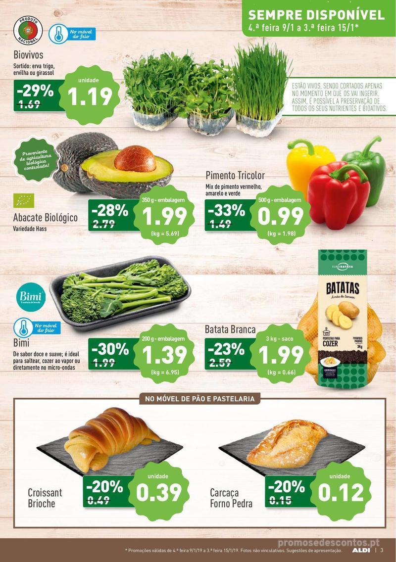 Folheto Aldi Semana Detox - 9 de Janeiro a 15 de Janeiro - página 3