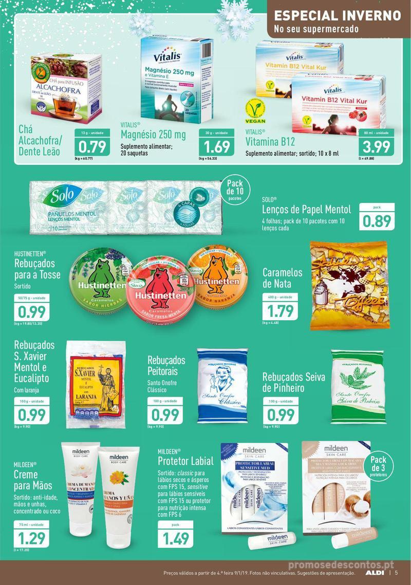 Folheto Aldi Semana Detox - 9 de Janeiro a 15 de Janeiro - página 5