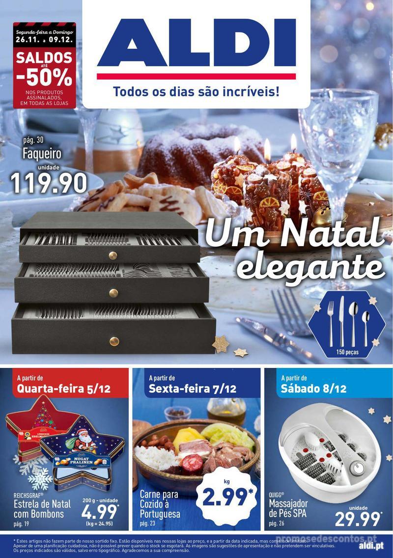 Folheto Aldi Um Natal elegante - 5 de Dezembro a 11 de Dezembro - página 1