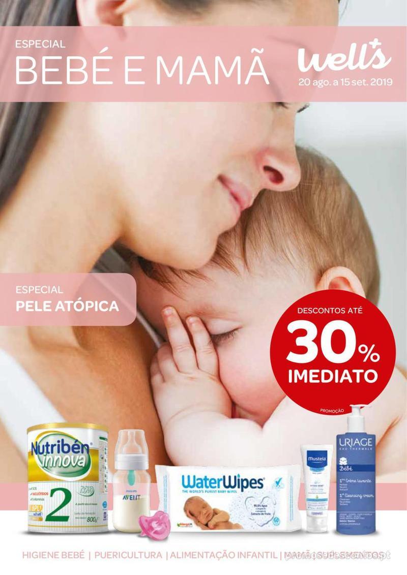 Folheto Wells Especial Bebé e mamã - 20 de Agosto a 15 de Setembro - página 1