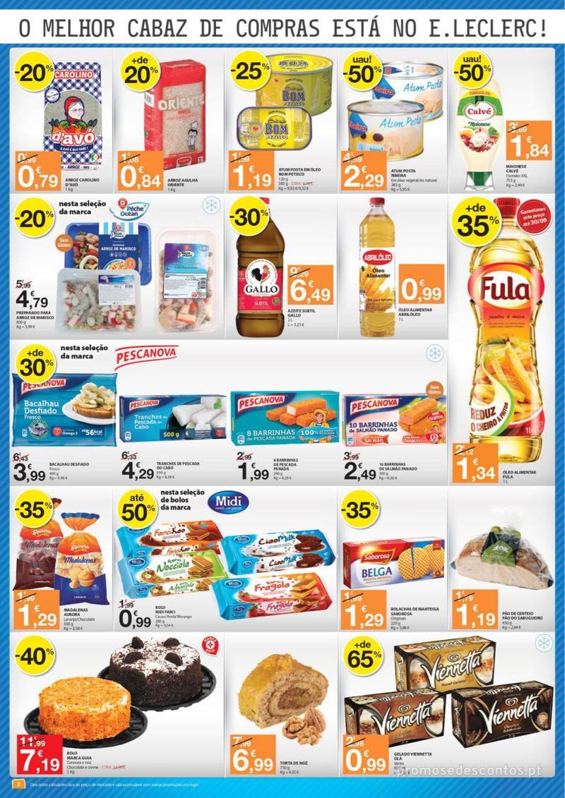 Folheto E.leclerc O melhor cabaz de compras está aqui - 13 de Agosto a 15 de Agosto - página 2