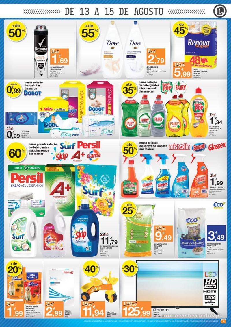 Folheto E.leclerc O melhor cabaz de compras está aqui - 13 de Agosto a 15 de Agosto - página 3