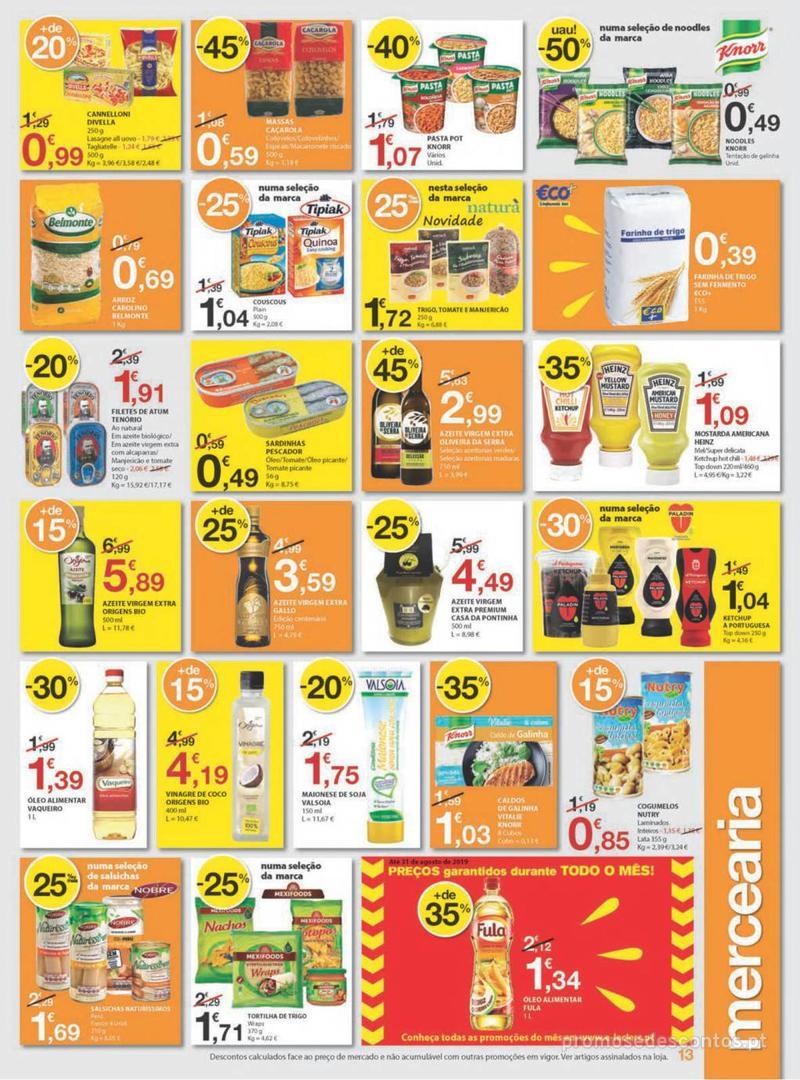 Folheto E.leclerc Uma semana cheia de promoções - 8 de Agosto a 14 de Agosto - página 13