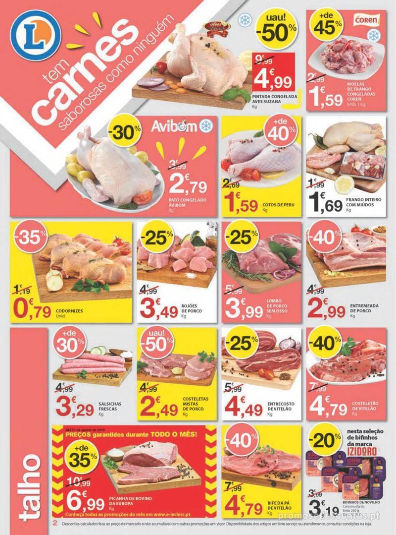 Folheto E.leclerc Uma semana cheia de promoções - 8 de Agosto a 14 de Agosto - página 2
