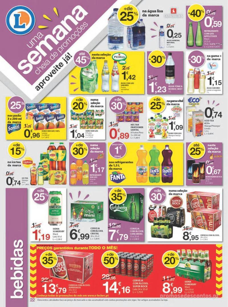 Folheto E.leclerc Uma semana cheia de promoções - 8 de Agosto a 14 de Agosto - página 22