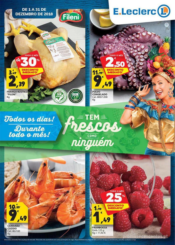 Folheto E.leclerc Tem frescos como ninguém - 1 de Dezembro a 31 de Dezembro - página 1
