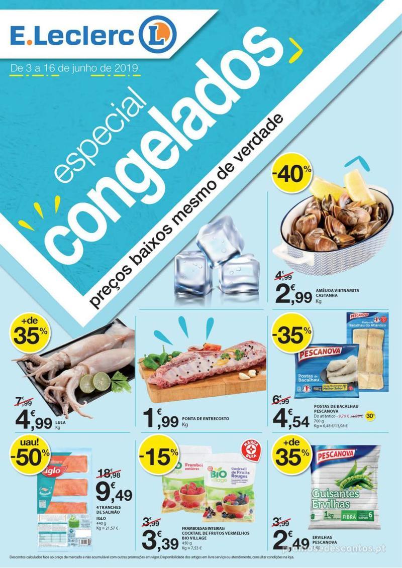 Folheto E.leclerc Especial Congelados - 3 de Junho a 16 de Junho - página 1