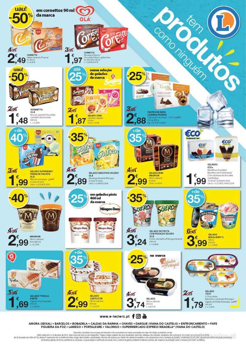 Folheto E.leclerc Especial Congelados - 3 de Junho a 16 de Junho - página 8