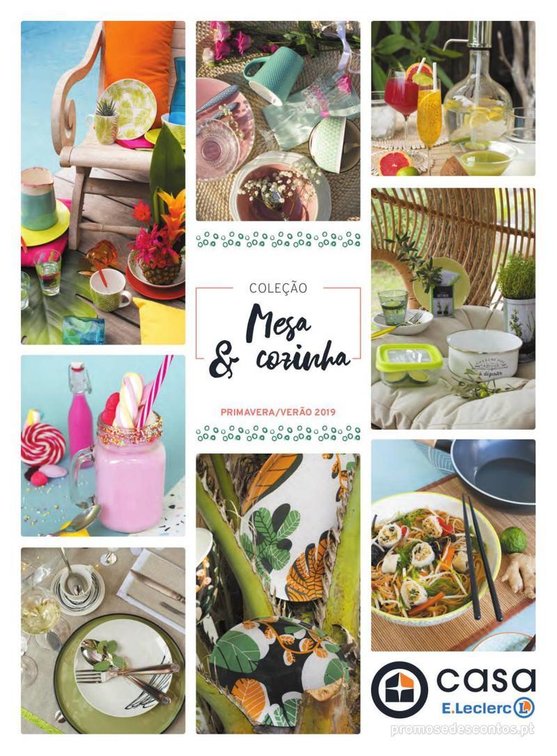 Folheto E.leclerc Mesa e Cozinha - 1 de Abril a 30 de Setembro - página 1