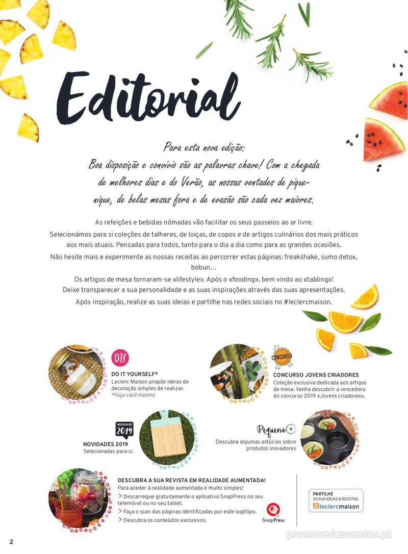 Folheto E.leclerc Mesa e Cozinha - 1 de Abril a 30 de Setembro - página 2