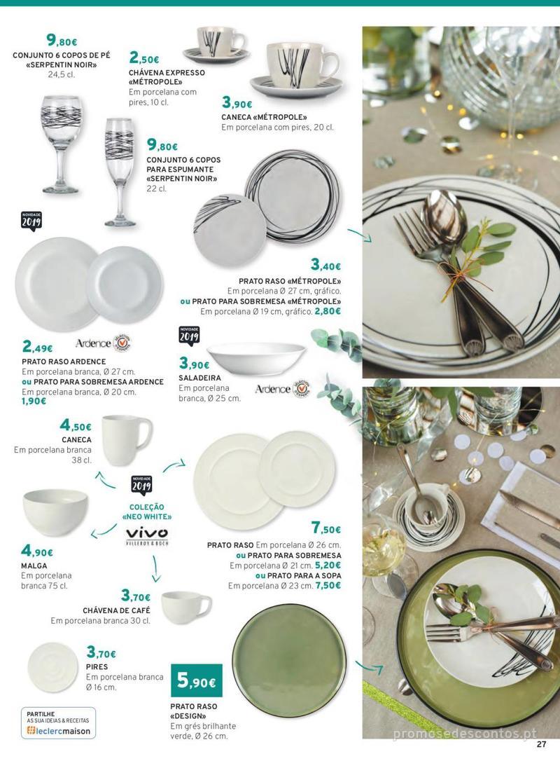 Folheto E.leclerc Mesa e Cozinha - 1 de Abril a 30 de Setembro - página 27