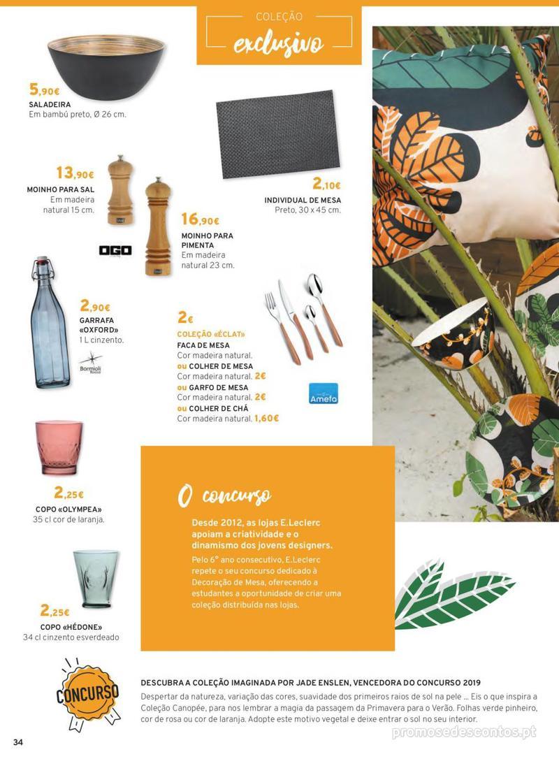 Folheto E.leclerc Mesa e Cozinha - 1 de Abril a 30 de Setembro - página 34