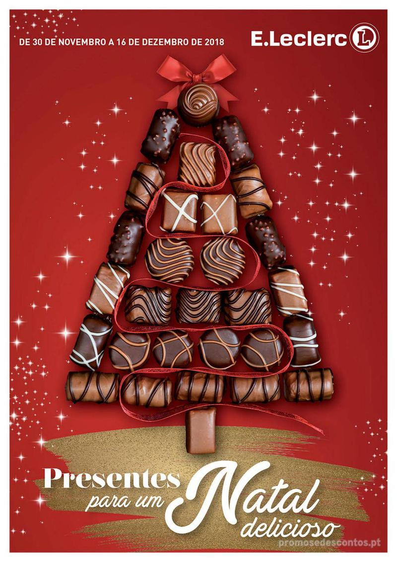 Folheto E.leclerc Presentes para um Natal delicioso - 30 de Novembro a 16 de Dezembro - página 1