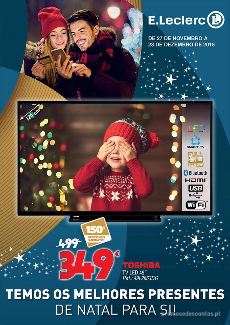 Folheto E.leclerc Temos os melhores presentes de Natal para si! - 27 de Novembro a 23 de Dezembro - página 1