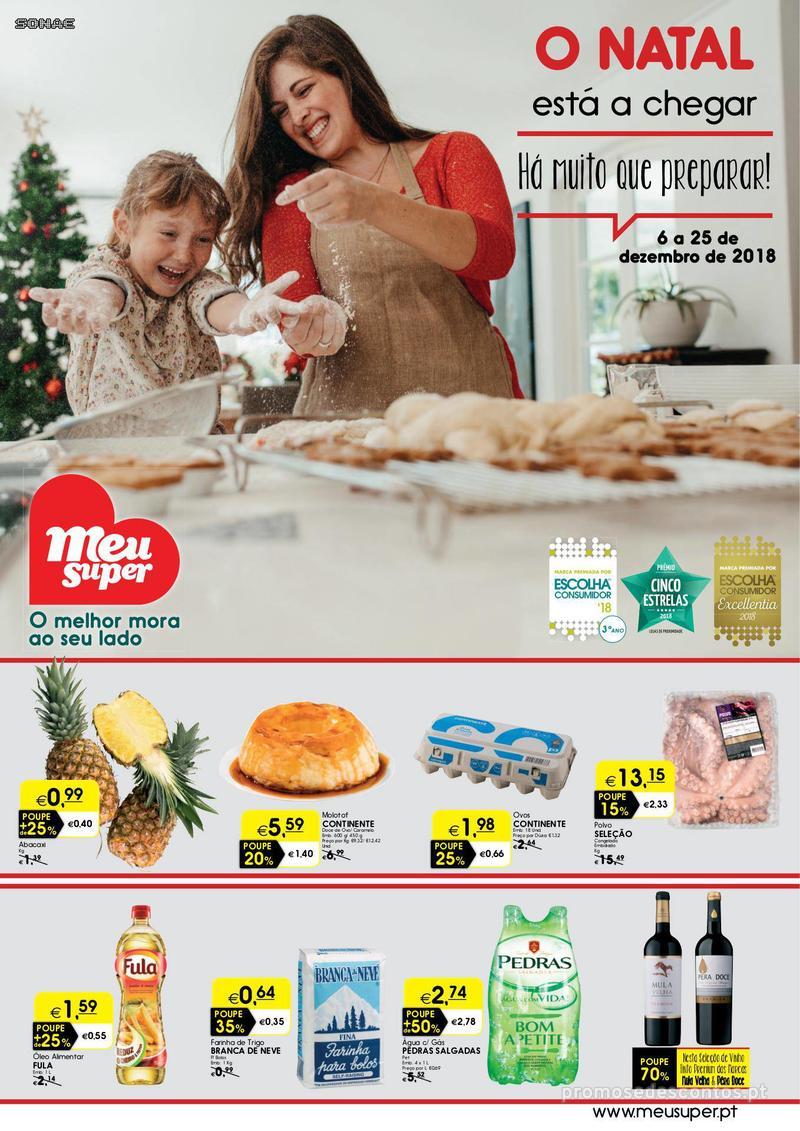 Folheto Meu Super O Natal está a chegar. Há muito que preparar! - 6 de Dezembro a 25 de Dezembro - página 1