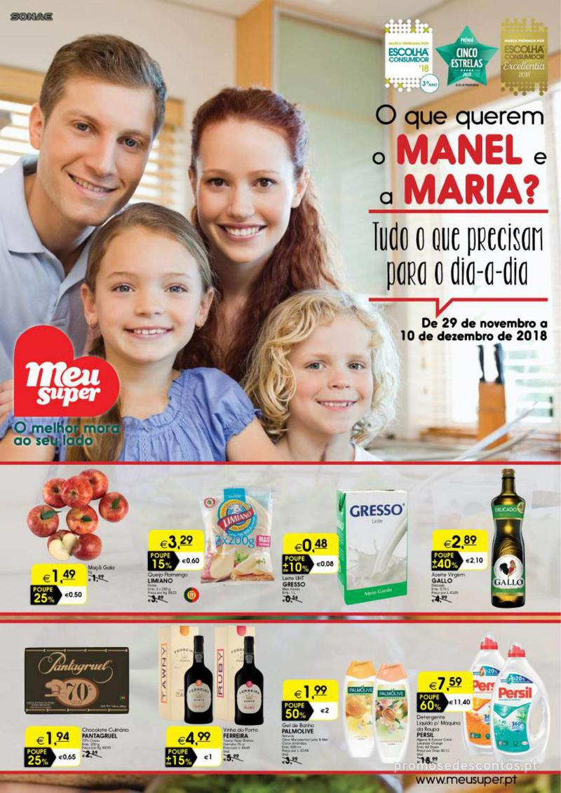 Folheto Meu Super Tudo o que precisam para o dia a dia - Lojas Pequenas - 29 de Novembro a 10 de Dezembro - página 1