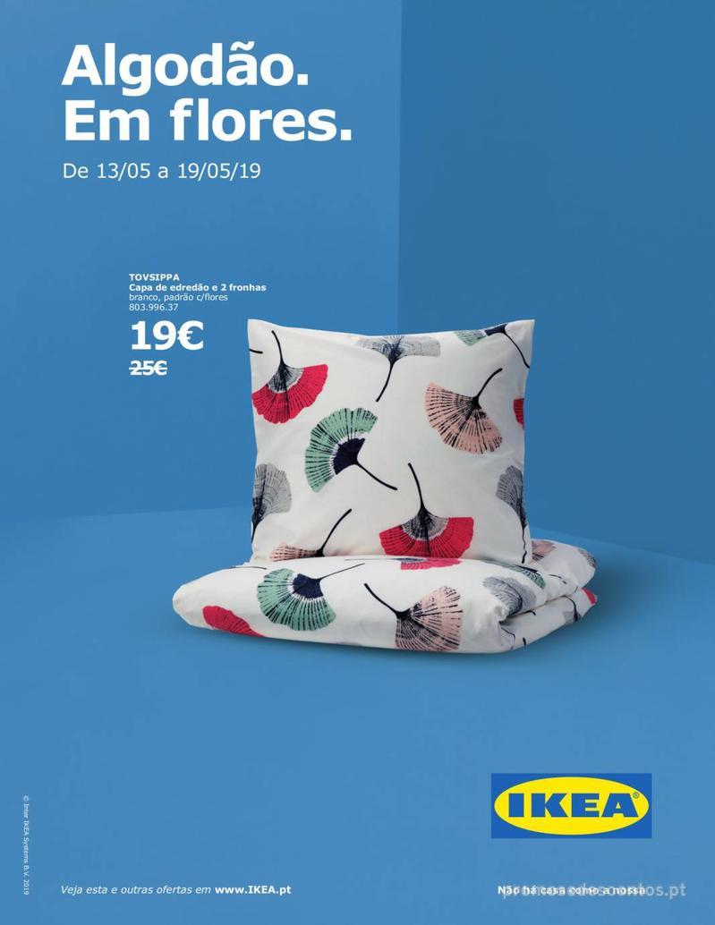 Folheto IKEA Algodão. Em flores - 13 de Maio a 19 de Maio - página 1