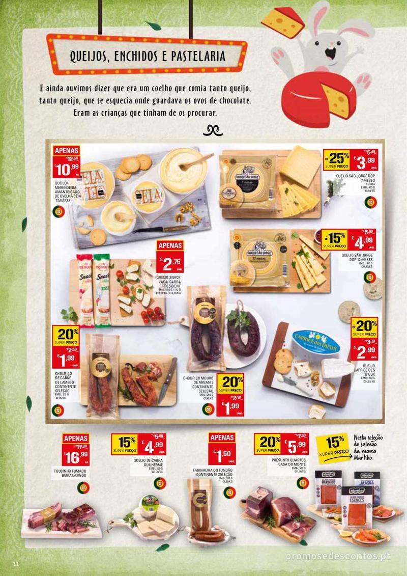 Folheto Continente Feira da Páscoa - 26 de Março a 22 de Abril - página 22