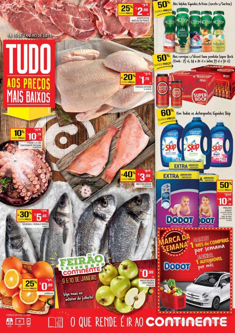 Folheto Continente Tudo aos preços mais baixos - Madeira - 9 de Janeiro a 15 de Janeiro - página 1