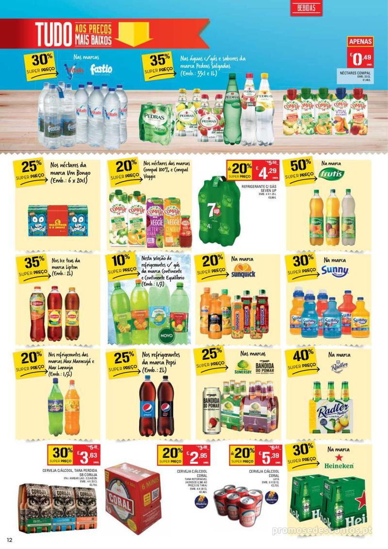 Folheto Continente Tudo aos preços mais baixos - Madeira - 9 de Janeiro a 15 de Janeiro - página 12
