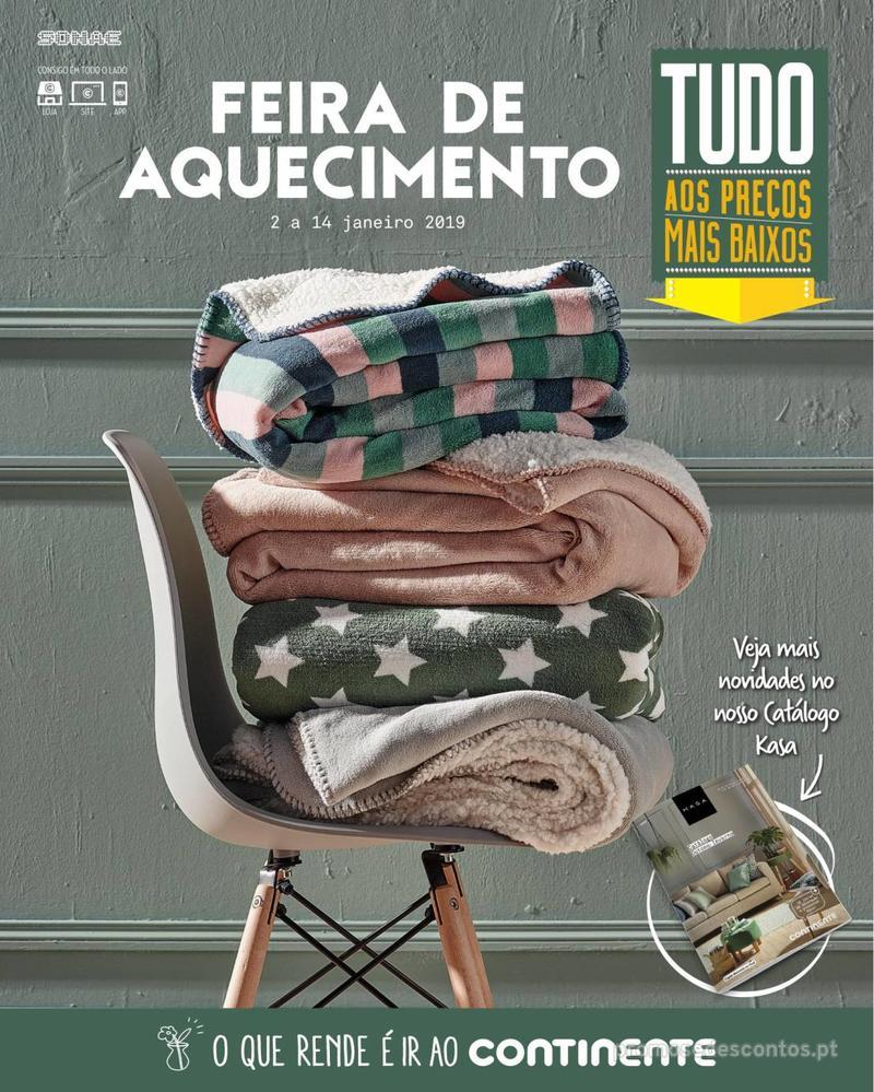 Folheto Continente Feira Aquecimento - Madeira - 2 de Janeiro a 14 de Janeiro - página 1